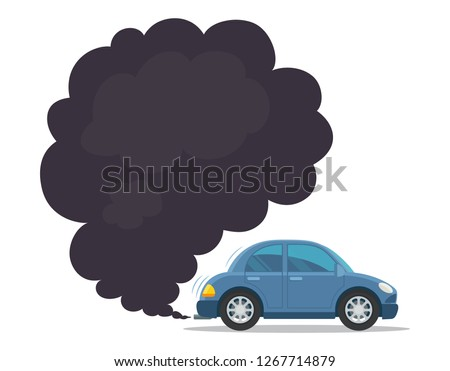 Cartoon Car Blowing Exhaust Fumes. Royalty Free Cliparts, Vectors, And  Stock Illustration. Image 14056590.