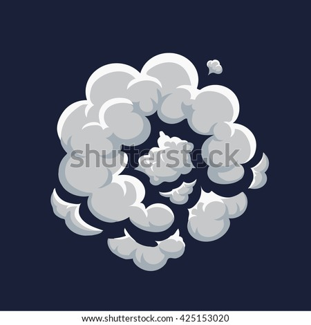 smoke dust explosion cartoon