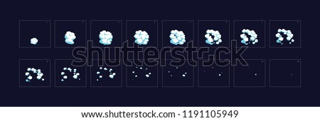 Smoke explosion animation. Smoke Animation . explosion animation. Sprite sheet for game, cartoon or animation