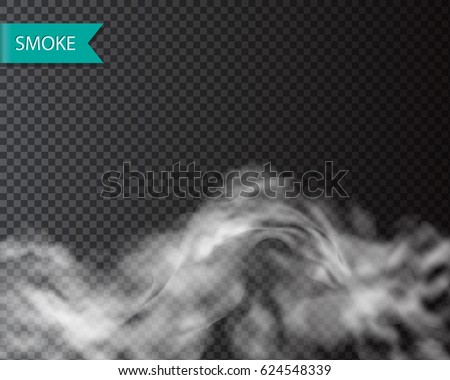 Smoke fog or cloud isolated transparentl effect. Vector cloudiness, mist template
