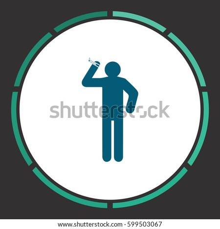 smoke icon vector flat simple