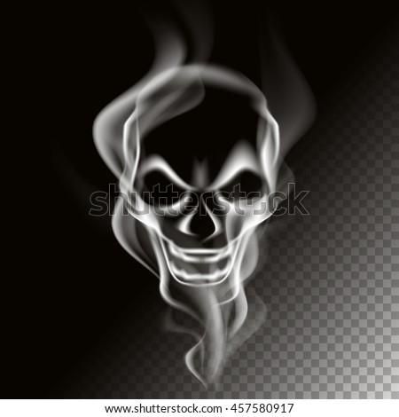 smoke in skull shape  vector