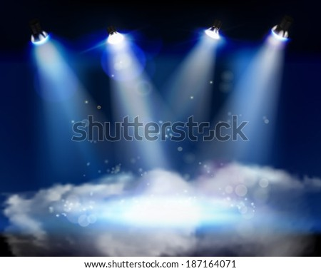 smoke on the stage vector