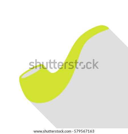 smoke pipe sign pear icon with