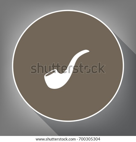smoke pipe sign vector white