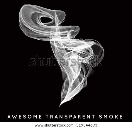 smoke smooth light lines vector