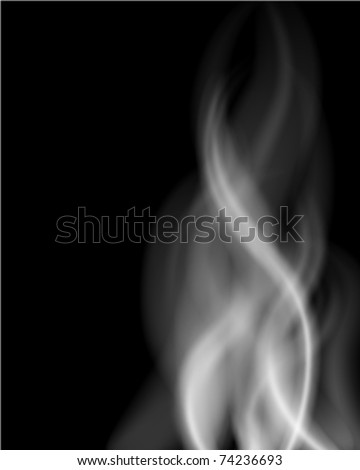 Smoke smooth light lines vector background. Eps 10.