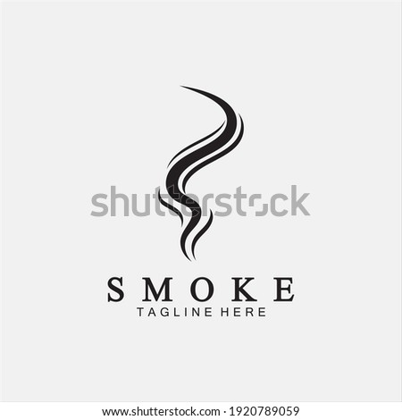 Smoke steam icon logo illustration isolated on white background,Aroma vaporize icons. Smells vector line icon, hot aroma, stink or cooking steam symbols, smelling or vapor Stock foto ©