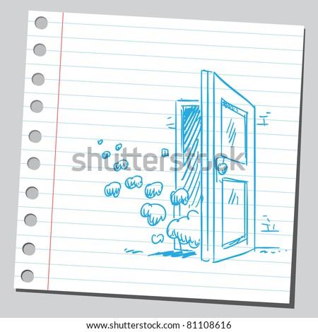 Smoke through the door
