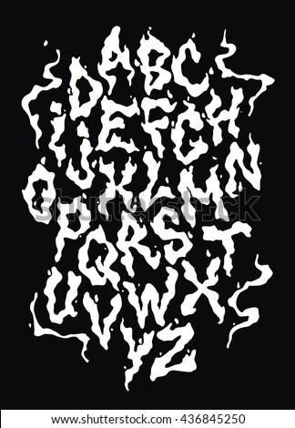 smoke vapor font vector