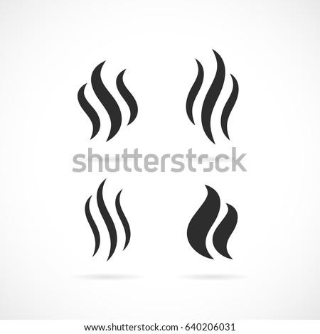 smoke vector eps icon on white