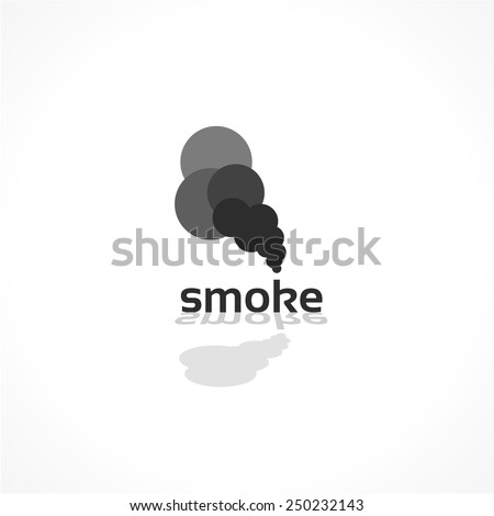 smoke vector icon  abstract