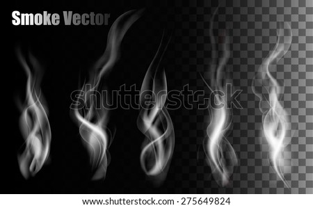 smoke vectors on transparent