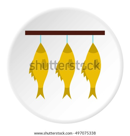 smoked fish icon flat
