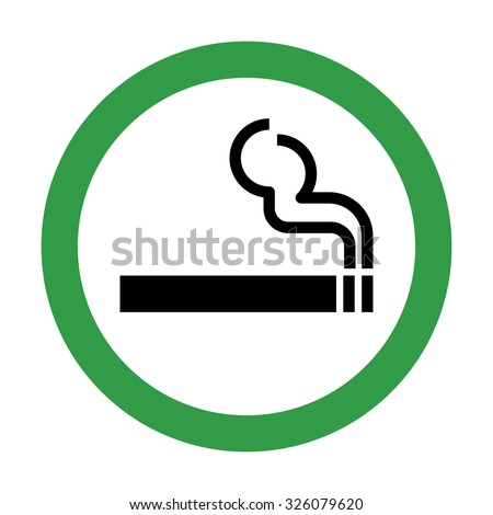 Smoking Area Sign . Vector illustration