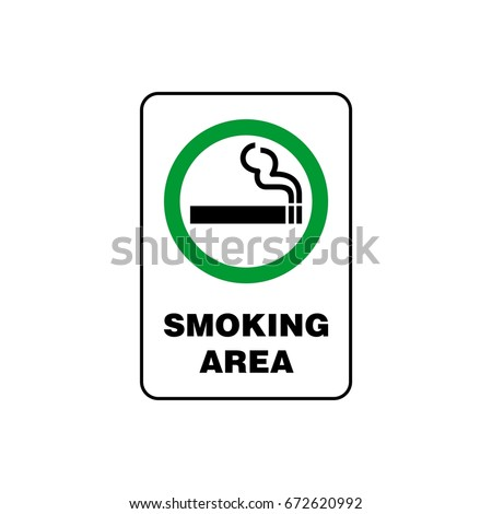 Smoking Area Signage Vector