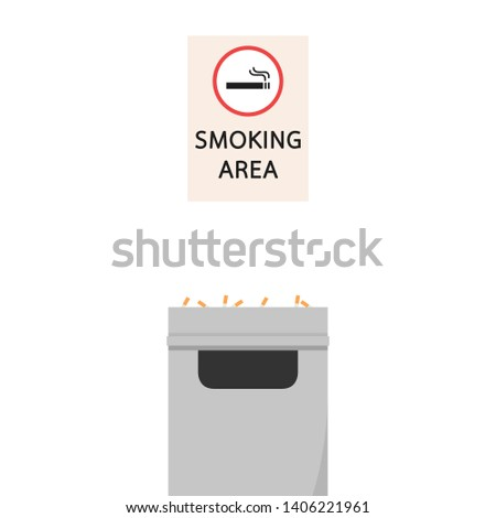 smoking area. smoking area wallpaper. poster design. free space for text. copy space. smoking area illustration. smoking area sign.
