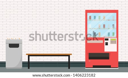 smoking area. smoking area wallpaper. poster design. free space for text. copy space. Water vending machine.