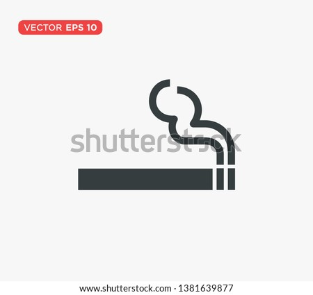 smoking cigarette icon vector