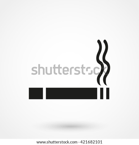 smoking icon isolated on