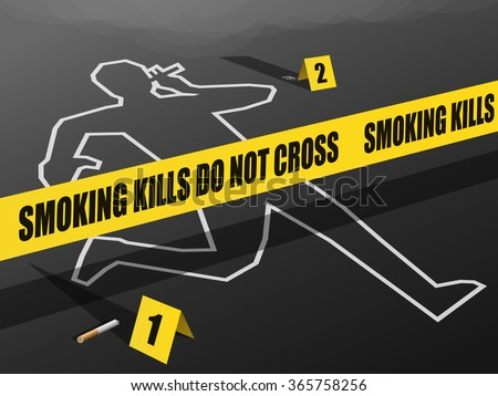 smoking kills do not cross