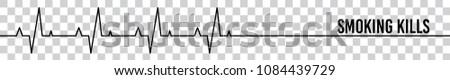 smoking kills heartbeat symbol