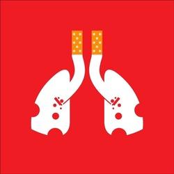 Smoking Lung vector design