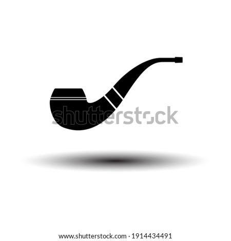 smoking pipe icon black on