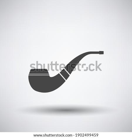 smoking pipe icon dark gray on