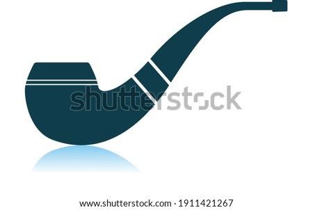 smoking pipe icon shadow