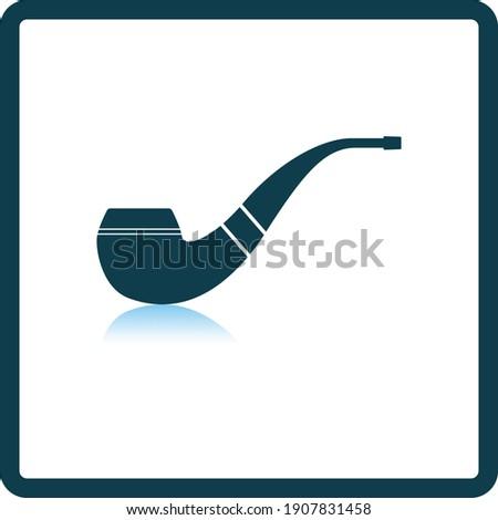 smoking pipe icon square