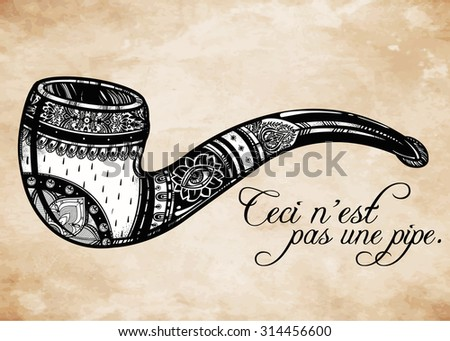 smoking pipe in vintage style