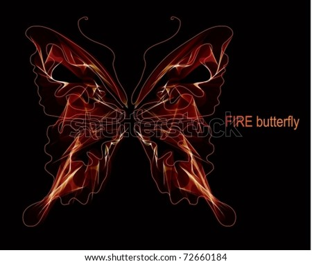 Smooth butterfly. EPS10. Vector Background
