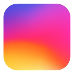 Smooth color gradient icon logo. Vector illustration for your social media app design project and other.