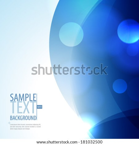 Smooth Curve Lines Blue Background