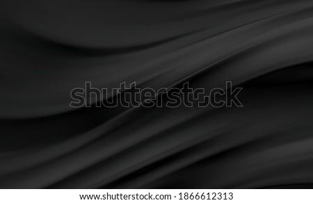 smooth elegant black satin