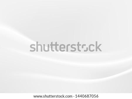 Smooth elegant white silk or satin cloth texture background. Luxurious background design.vector Illustration.