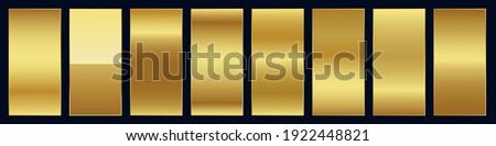 Smooth golden premium gradient swatch palette set Foto stock ©