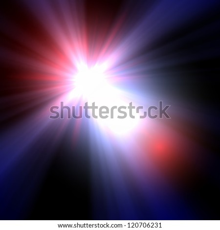 Smooth light lines with lens effect vector