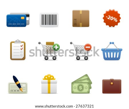 smooth series > shopping icons