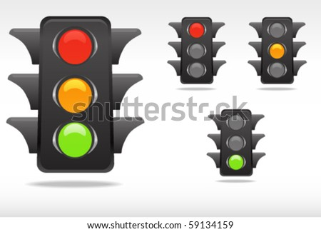 smooth traffic lamp symbols