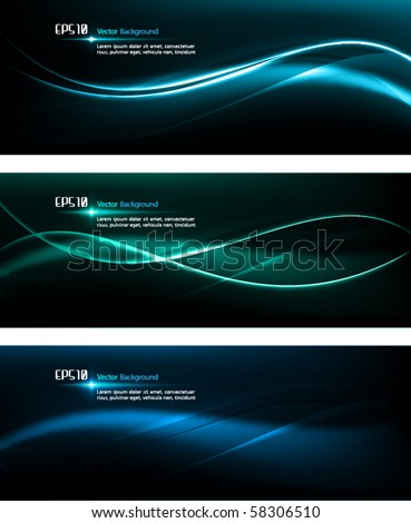 Smooth Waves | Dark Design Template for Masculine Designs | EPS10 Vector Background