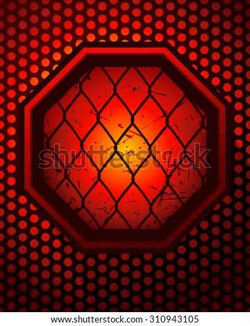 smouldering octagonal cage sign