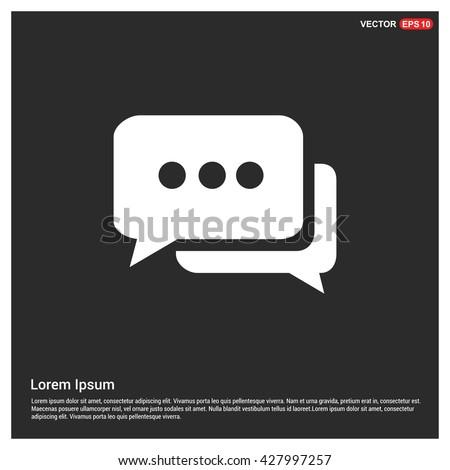 SMS icon. Message icon.