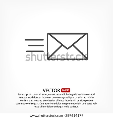 sms line vector icon