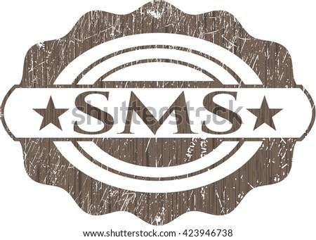 SMS retro wooden emblem
