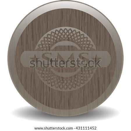 SMS vintage wooden emblem
