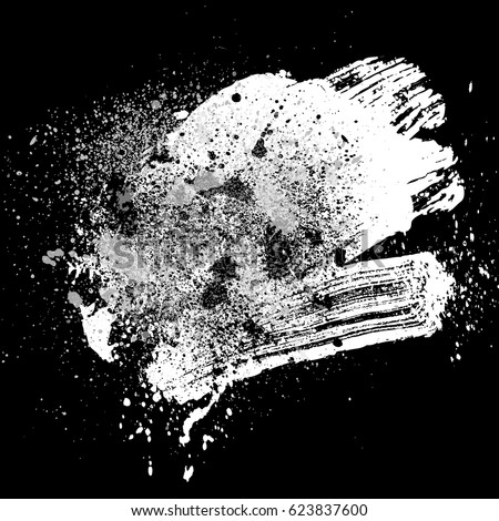 smudge and smear a white brush