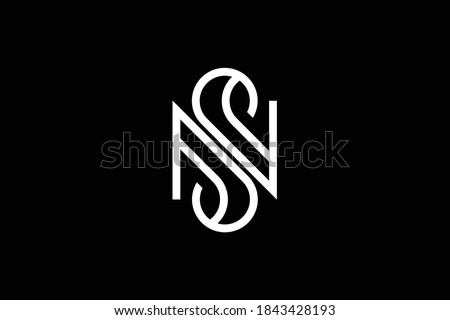 SN letter logo design on luxury background. NS monogram initials letter logo concept. SN icon design. NS elegant and Professional letter icon design on black background. N S NS SN Stock fotó ©