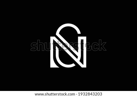 SN letter logo design on luxury background. NS monogram initials letter logo concept. SN icon design. NS elegant and Professional white color letter icon design on black background. Stock fotó ©